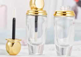 glass clear lip gloss tube
