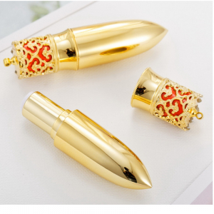 lipgloss tube packaging gold