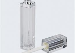 private label empty lip gloss bottle silver top