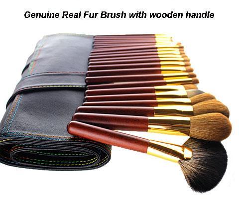 real fur brush
