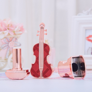 violin lipstick tube with red cap