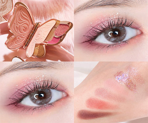 butterfly eyeshadow swatch