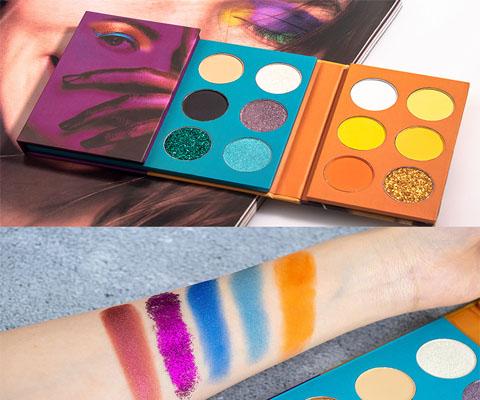 color eye shadow swatch test