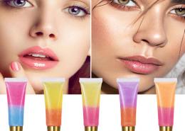 dual color soft tube lip gloss