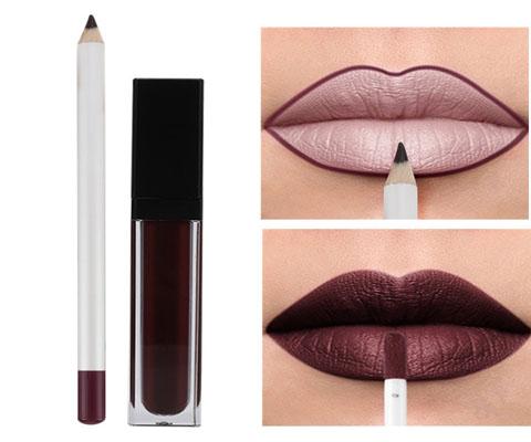 lip glaze lip liner swatach