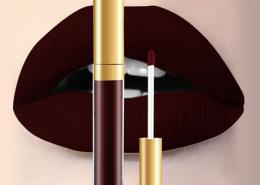 lip matte color dark red