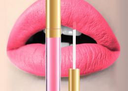lip matte pink color