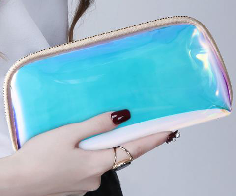 cosmetic bag no logo clear