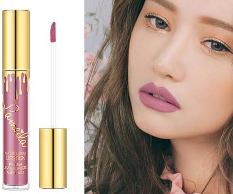 matte liquid lipstick with logo nude shade