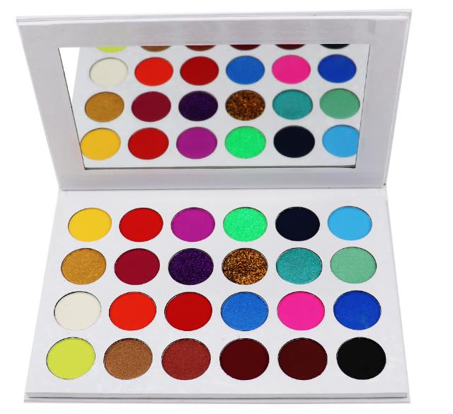 private label eyeshadow palette with mirror