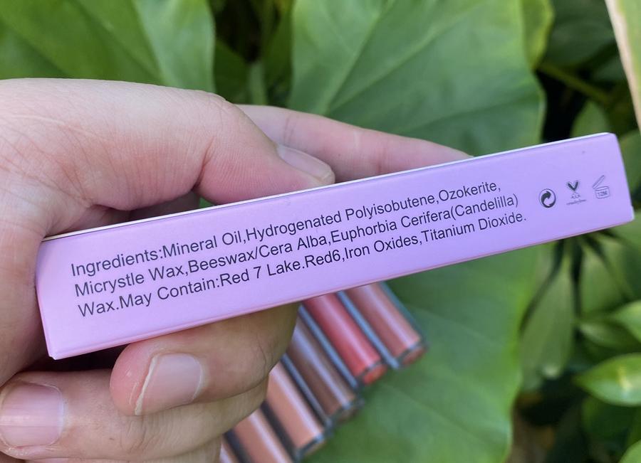 private label lip gloss matte liquid pink box