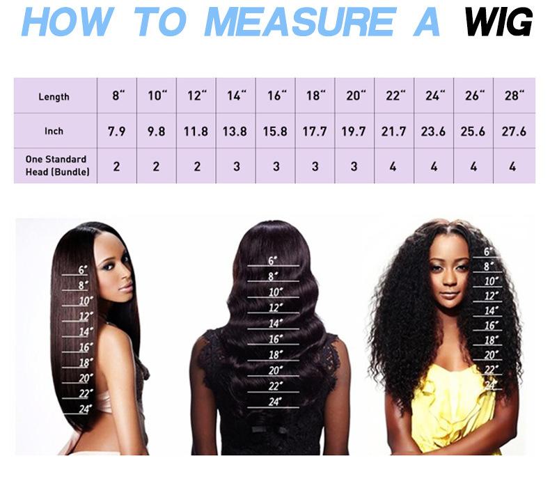 real human hair bundles measuring way