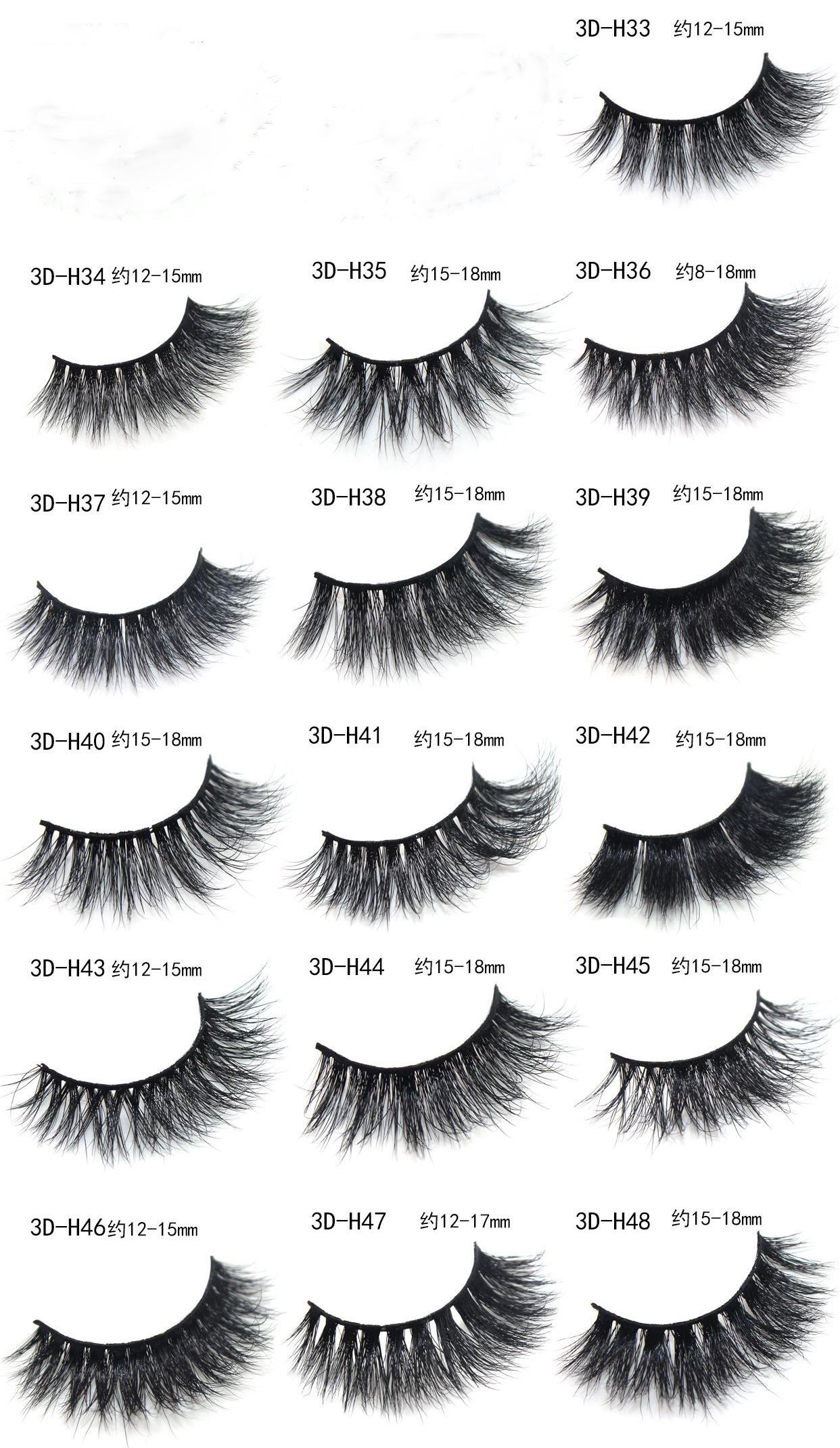 3D mink eyelashes template