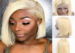 613 blonde BOBO human hair