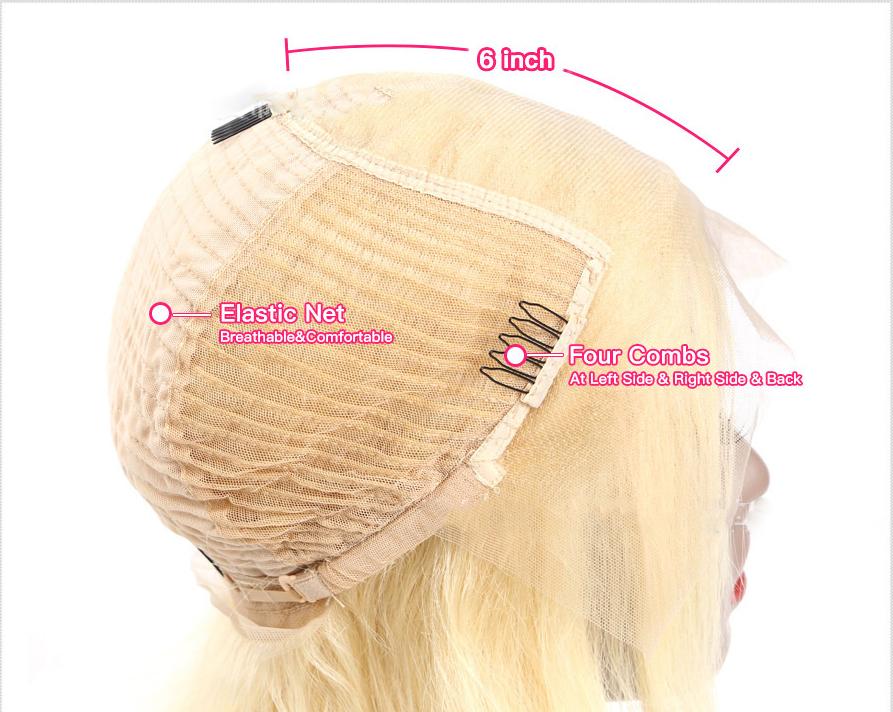 613 blonde BOBO human hair inside