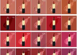 matte lipstick color swatch