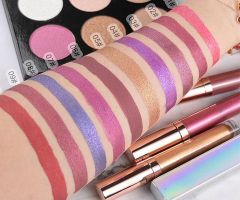 metallic lip gloss swatch