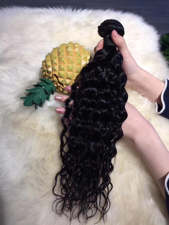 real human hair bundle wave