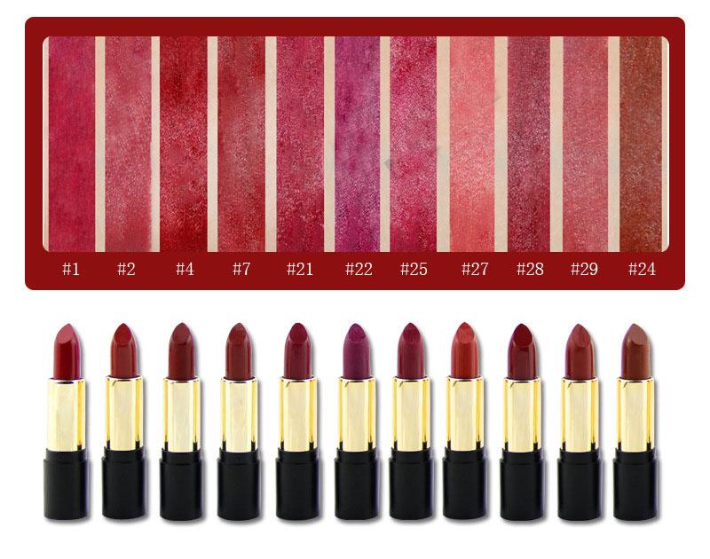 texture of matte lipstick