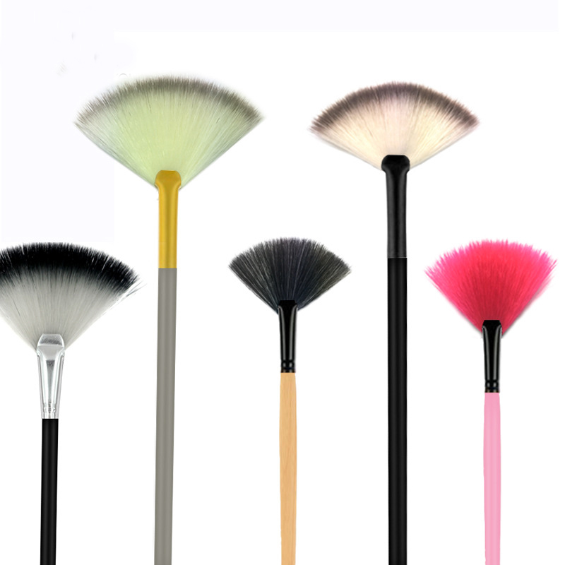 flat makeup brush with long handle